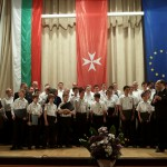 The Colmar Boys' Choir had a concert at the Aula Magna of the Bulgarian Academy of Sciences (BAS) on the occasion of the 10th anniversary of the opening of the Order of Malta embassy in Sofia. Among the choir singers in the picture you can see the Vice President of Bulgaria H. E. Mrs. Margarita Popova, the Ambassador of the Order of Malta H. E. Mr. Camillo Zuccoli and BAS President Acad. Stefan Vodenicharov.