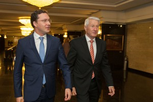 Council of Europe Secretary General Thorbjørn Jagland (right) and the Bulgarian Minister of Foreign Affairs Daniel Mitov