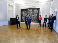 H.E. Mag. Roland Hauser, the Ambassador of Austria to Bulgaria, speaks at the opening ceremony at the National Gallery in Sofia.