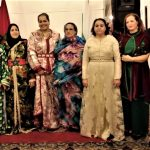 The participants in the first Diplomatic Cultural Salon at the residence of H.E. Zakia El Midaoui in Sofia
